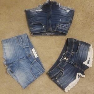 2 American Eagle 1 Abercrombie and Fitch shorts